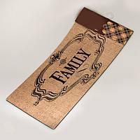 """Придверний килимок """"Family"""" (56х26 см.), фото 1"""