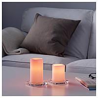 Светодиодные свечи GODAFTON розовые