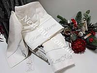 Набор бамбуковых полотенец Maison D'or Paris Rose Marine 3шт кремовый