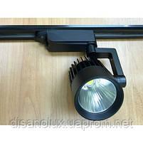 Светильник LED трековый на шинопровод DL4003  черный 30W  4000К  , фото 2