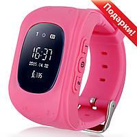 ☛Смарт-часы UWatch Q50 Розовые детские GPS SIM кнопка SOS Прослушка Датчик снятия с руки 