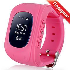 ☛Смарт-часы UWatch Q50 Розовые детские GPS SIM кнопка SOS Прослушка Датчик снятия с руки|