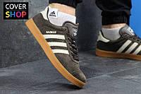 Кроссовки мужские adidas GAZELLE, цвет - коричневый, материал - замша