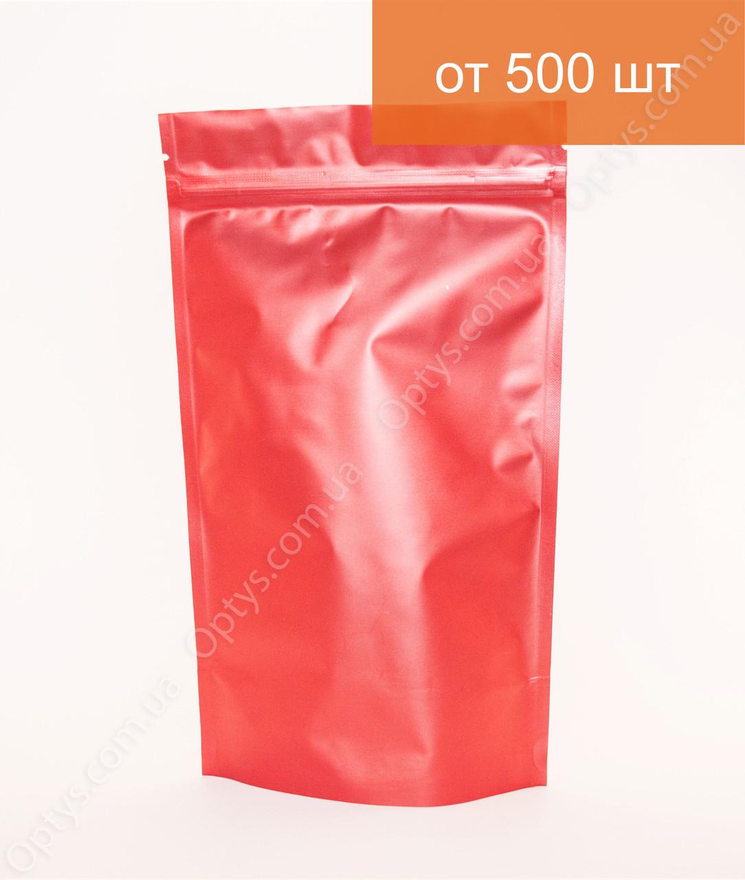 Пакет Дой Пак Червоний 210х380мм з Zip-замком металізований