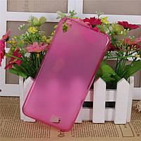 TPU силиконовый чехол бампер homtom ht16 / ht16 pro - розовый матовый