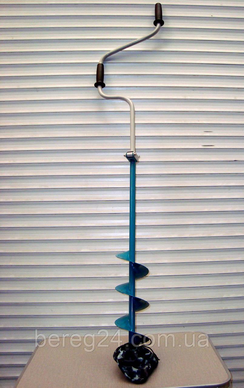 Ледобур Барнаульский Тонар Двуручный 130 мм бур рыбацкий