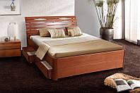"""Кровать двуспальная деревянная """"Мария Люкс"""" 1.6м (с выдвижными ящиками)  (Микс Мебель)"""
