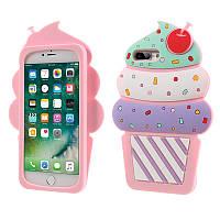Резиновый 3D чехол для Apple iPhone 7 Plus Ice cream