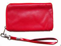 Косметичка прямоугольная малая под мобильник или кошелечек под мелочь цвет красный.