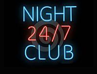 Вывеска для ночного клуба.