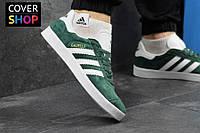Кроссовки мужские adidas GAZELLE, цвет - зеленый, материал - замша