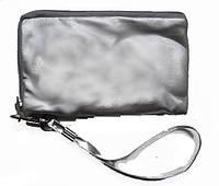 Косметичка прямоугольная малая под мобильник или кошелечек под мелочь цвет серебро .