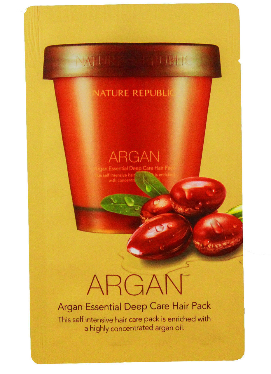 Маска для волос с аргановым маслом Nature Republic Argan Essential Deep Care Hair 15 ml