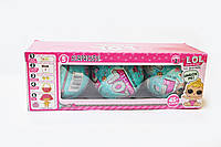 Cюрприз кукла в яйце, Маленькие куколки лол, Игрушки L.O.L, Кукла-шарик LQL , Игрушка пупс 3 яйца 2 серия