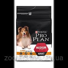 Корм Purina Pro Plan (Пурина Про план) ADULT MEDIUM для собак средних пород (курица), 3 кг
