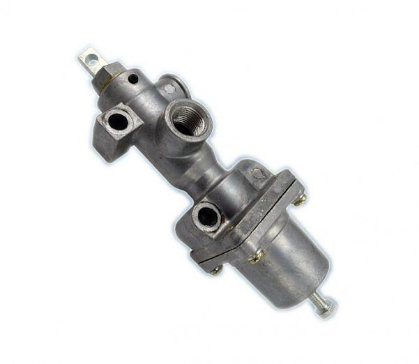 Кран управления давлением системы накачки шин с клапаном ограничителем