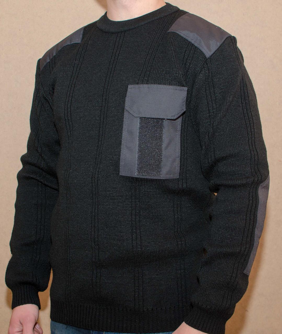 Форменный вязанный свитер ЧЕРНЫЙ (7 класс вязки)