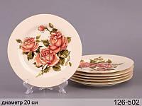 Набор тарелок Lefard Корейская роза 20 см 6 предметов, 126-502