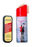 """Водоотталкивающий спрей для всех типов изделий Silver """"Universal"""" 200 ml+губка"""