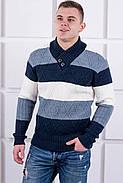 Мужской свитер Ричард шаль синий цвет / размерный ряд 40,42,44,46,48,50, фото 2