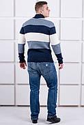 Мужской свитер Ричард шаль синий цвет / размерный ряд 40,42,44,46,48,50, фото 3