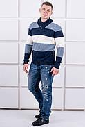 Мужской свитер Ричард шаль синий цвет / размерный ряд 40,42,44,46,48,50, фото 4