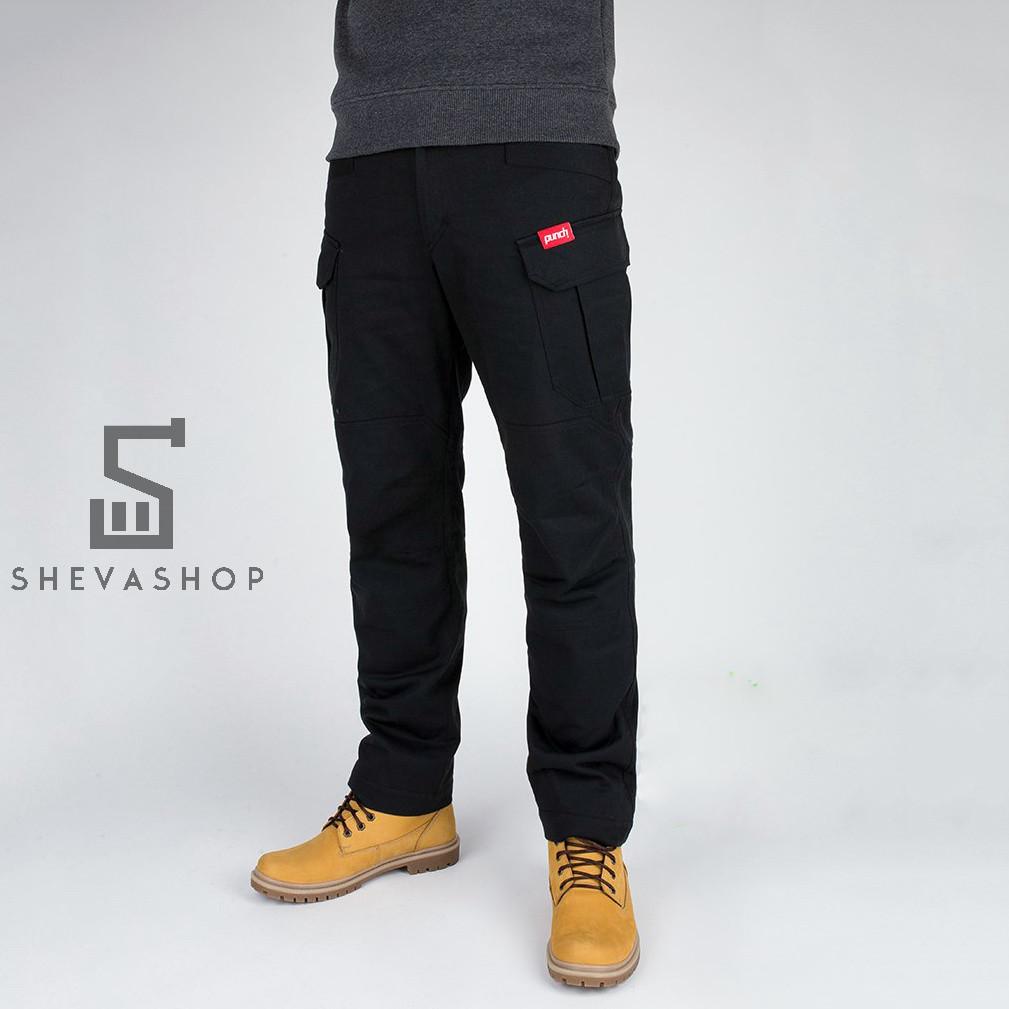 Тёплые брюки карго мужские Punch Chase черные, фото 1
