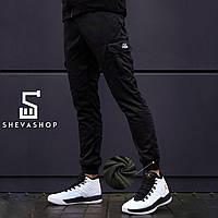 Теплые карго штаны beZet черные