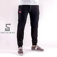 Тёплые брюки карго мужские Punch Cargo Winter Rush черные, фото 1