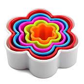Набор резаков для печенья Цветочки 6 шт (2,8-9,3см)
