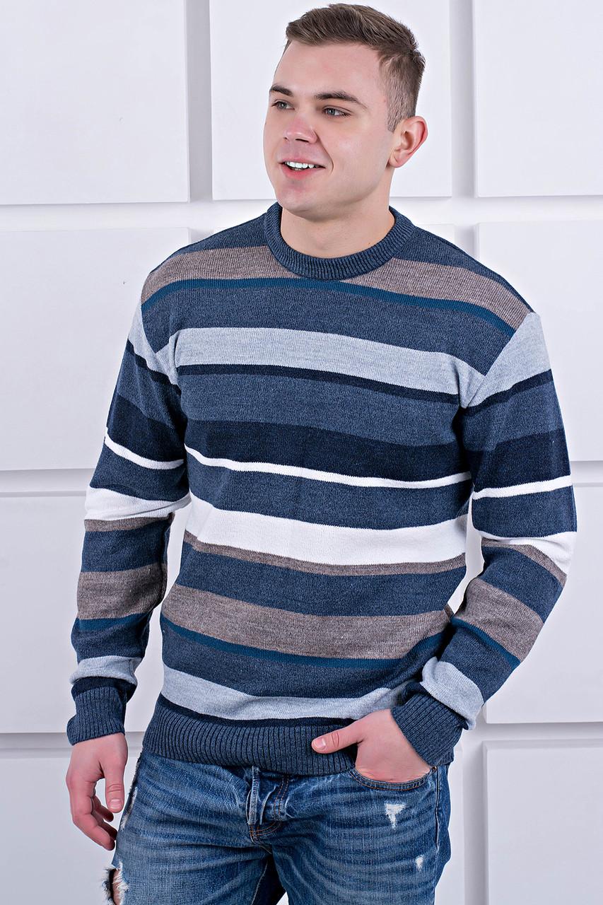 Мужской свитер Марсель круглое горло / размерный ряд 40,42,44,46,48,50