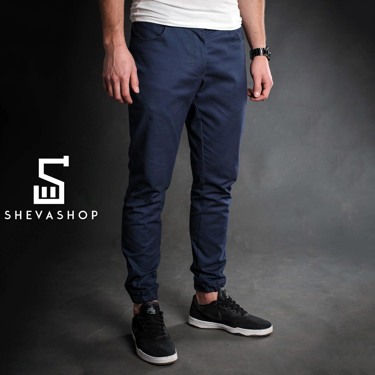 Стрейчевые брюки чинос мужские F&F Stretch темно-синие