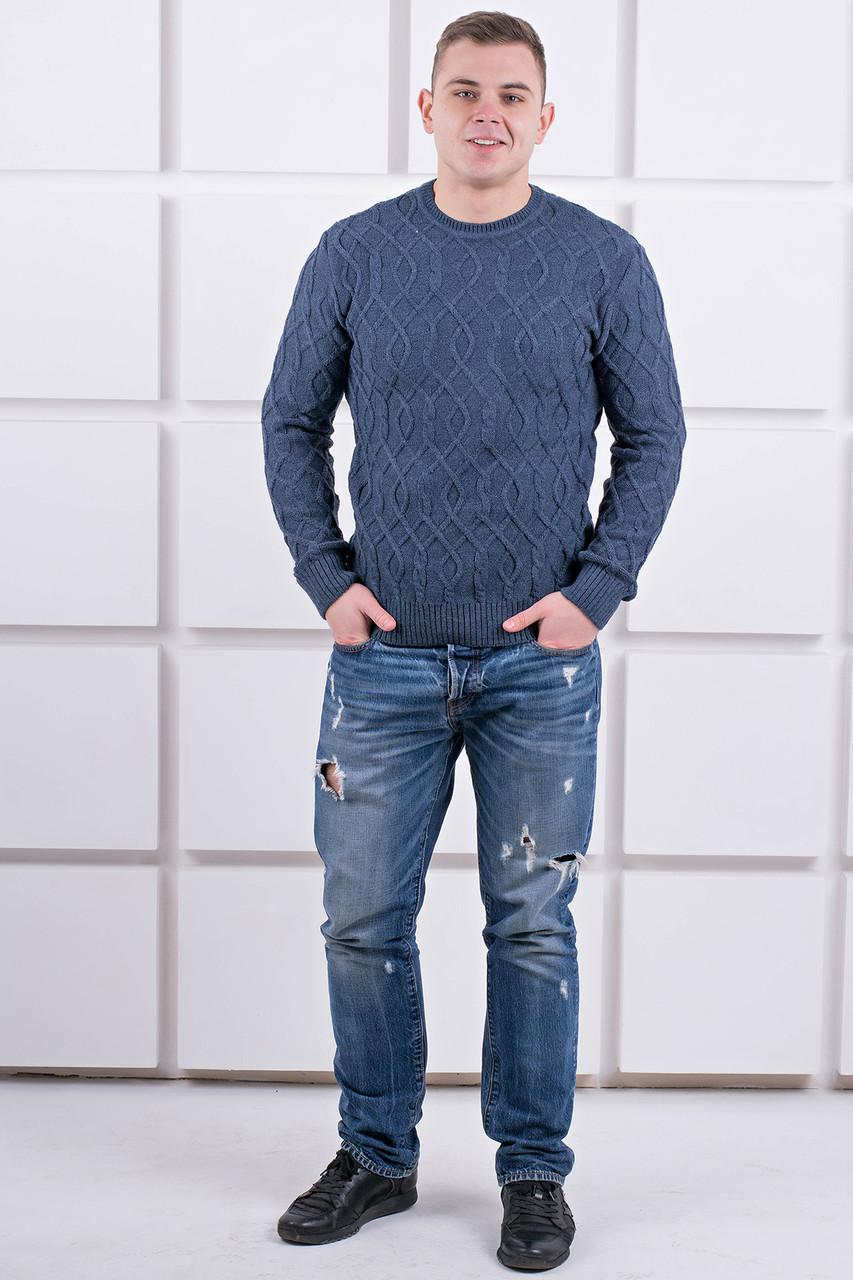 Мужской свитер Лаврентий / размерный ряд 48,50 / цвет темно серый