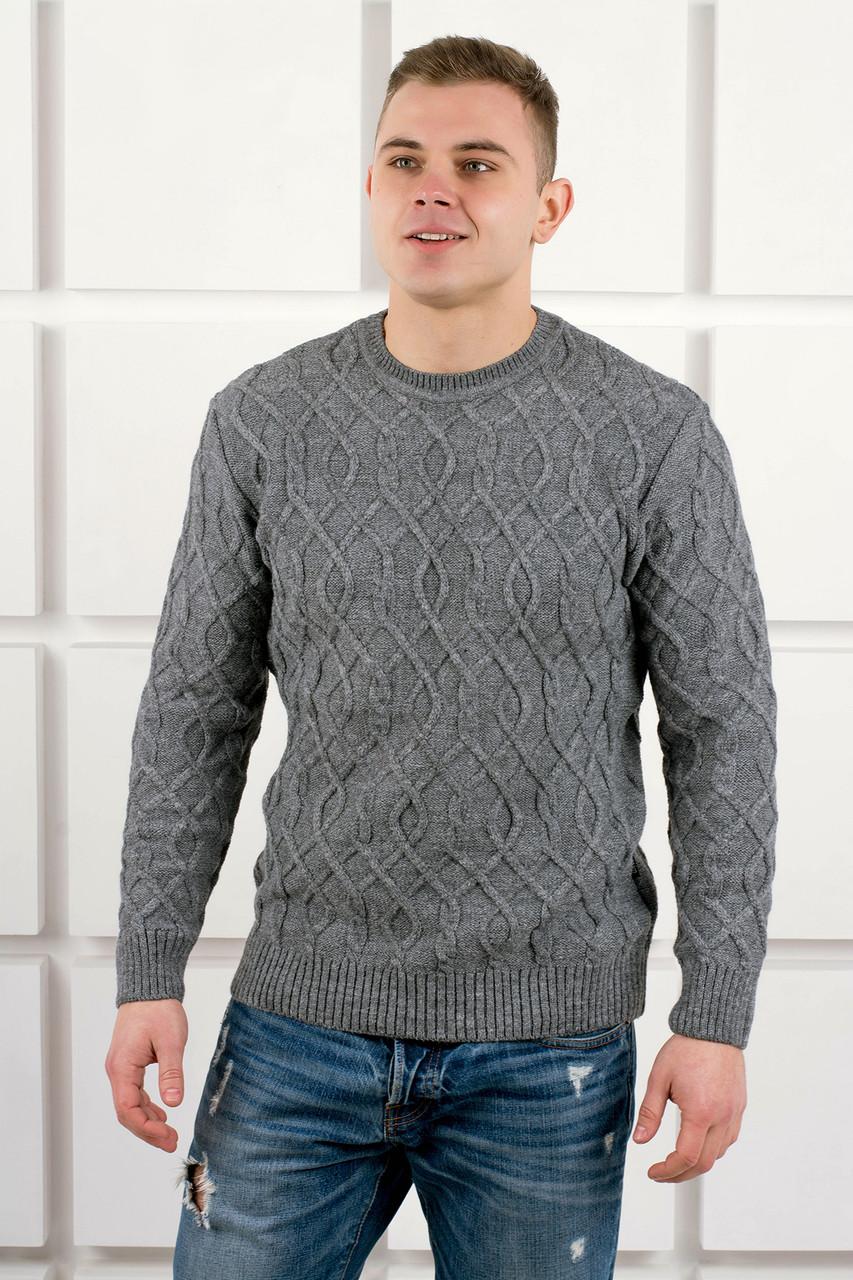 Мужской свитер Лаврентий / размерный ряд 48,50 / цвет серый
