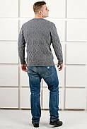 Мужской свитер Лаврентий / размерный ряд 48,50 / цвет серый, фото 3