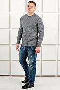 Мужской свитер Лаврентий / размерный ряд 48,50 / цвет серый, фото 4