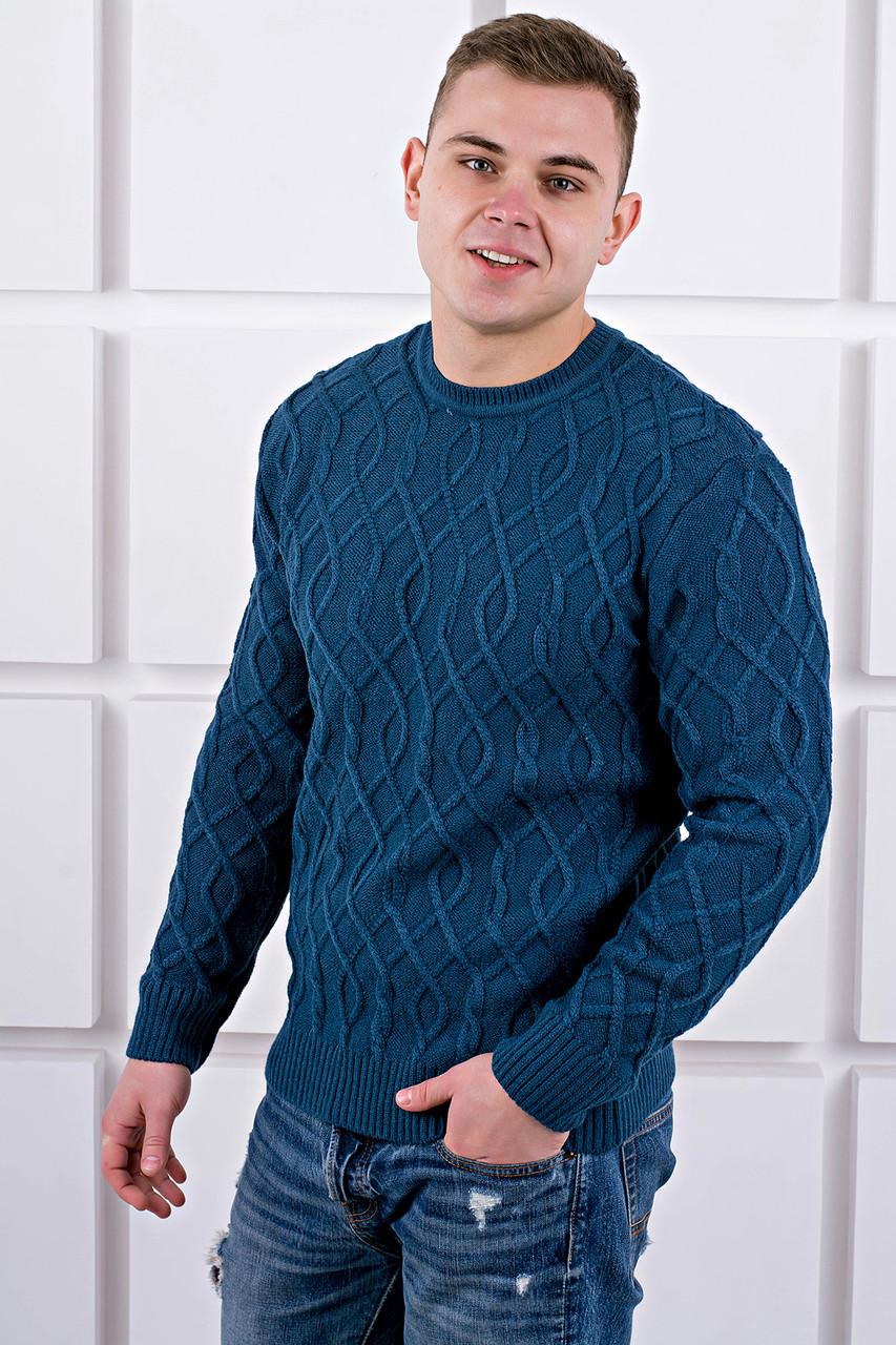 Мужской свитер Лаврентий / размерный ряд 48,50 / цвет бирюза