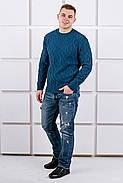 Мужской свитер Лаврентий / размерный ряд 48,50 / цвет бирюза, фото 2