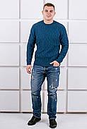 Мужской свитер Лаврентий / размерный ряд 48,50 / цвет бирюза, фото 3