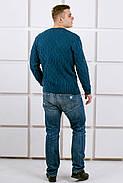 Мужской свитер Лаврентий / размерный ряд 48,50 / цвет бирюза, фото 5
