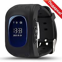 ☛Смарт-часы UWatch Q50 Черные детские GPS SIM Встроенный динамик Прослушка Кнопка SOS