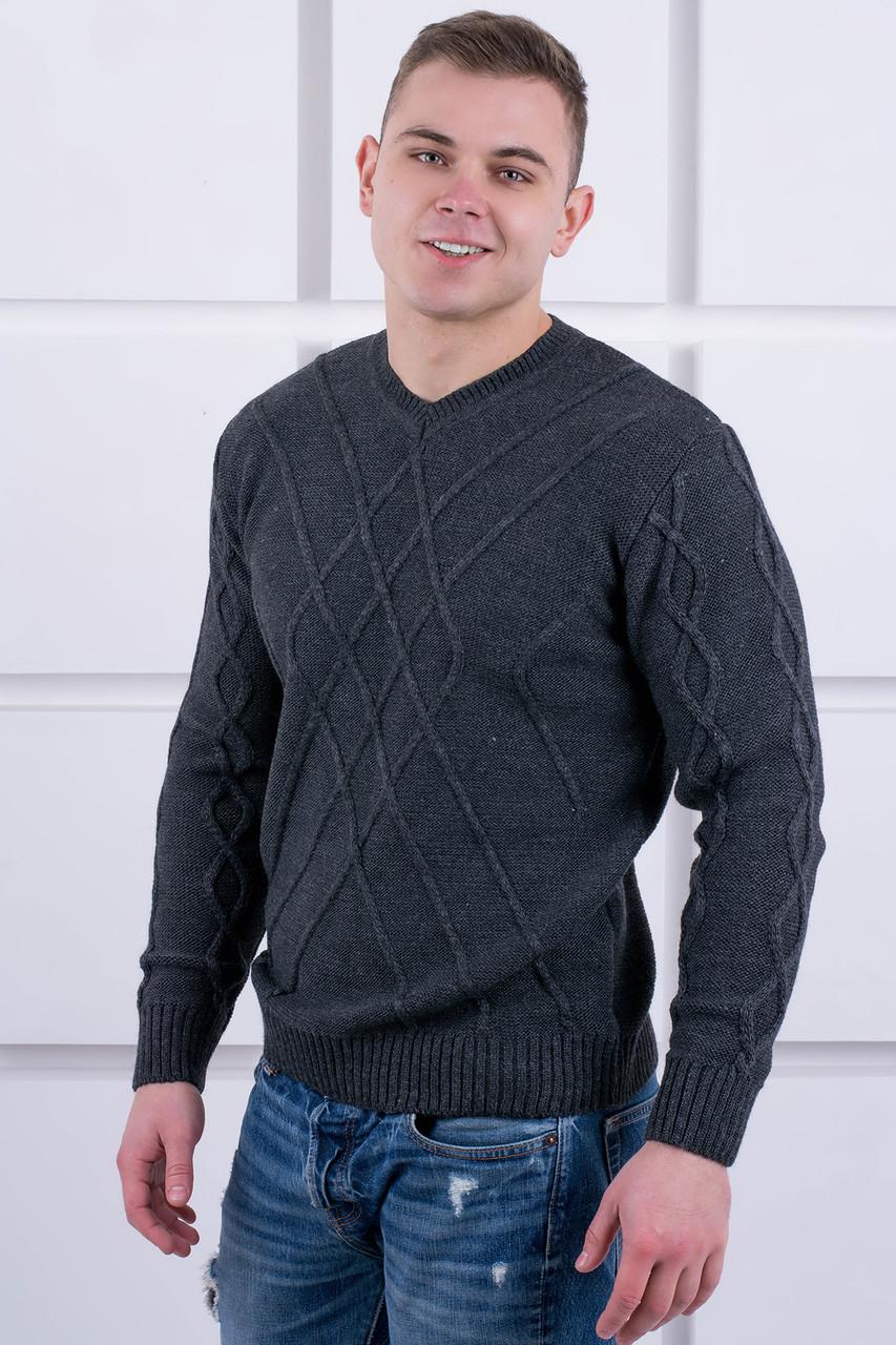 Мужской теплый свитер Василий / размерный ряд 46,48,50