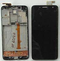 Дисплей + тачскрин + рамка для ALCATEL OT6012D/OT6012X/W