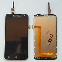 Дисплей + тачскрин для Lenovo S820 Black