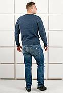 Мужской теплый свитер Василий / размерный ряд 46,48,50 / цвет синий, фото 4