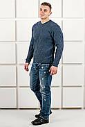Мужской теплый свитер Василий / размерный ряд 46,48,50 / цвет синий, фото 5