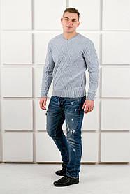 Мужской теплый свитер Василий / размерный ряд 46,48,50 / цвет серый