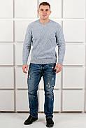 Мужской теплый свитер Василий / размерный ряд 46,48,50 / цвет серый, фото 2