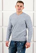 Мужской теплый свитер Василий / размерный ряд 46,48,50 / цвет серый, фото 3