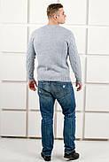 Мужской теплый свитер Василий / размерный ряд 46,48,50 / цвет серый, фото 5